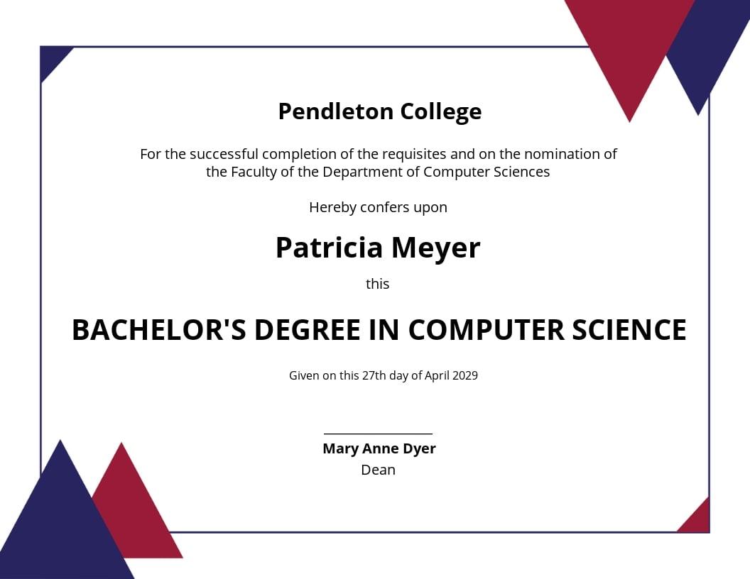 Computer Diploma Certificate Template.jpe
