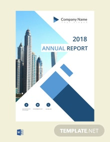 Free Annual Report Cover Page Template