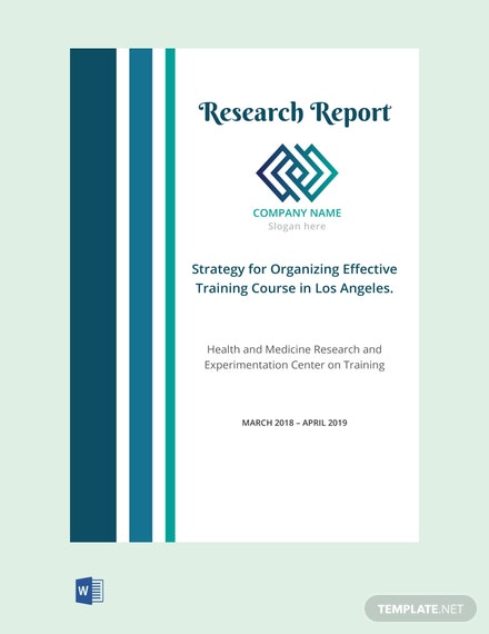 Free Research Report Cover Page Template