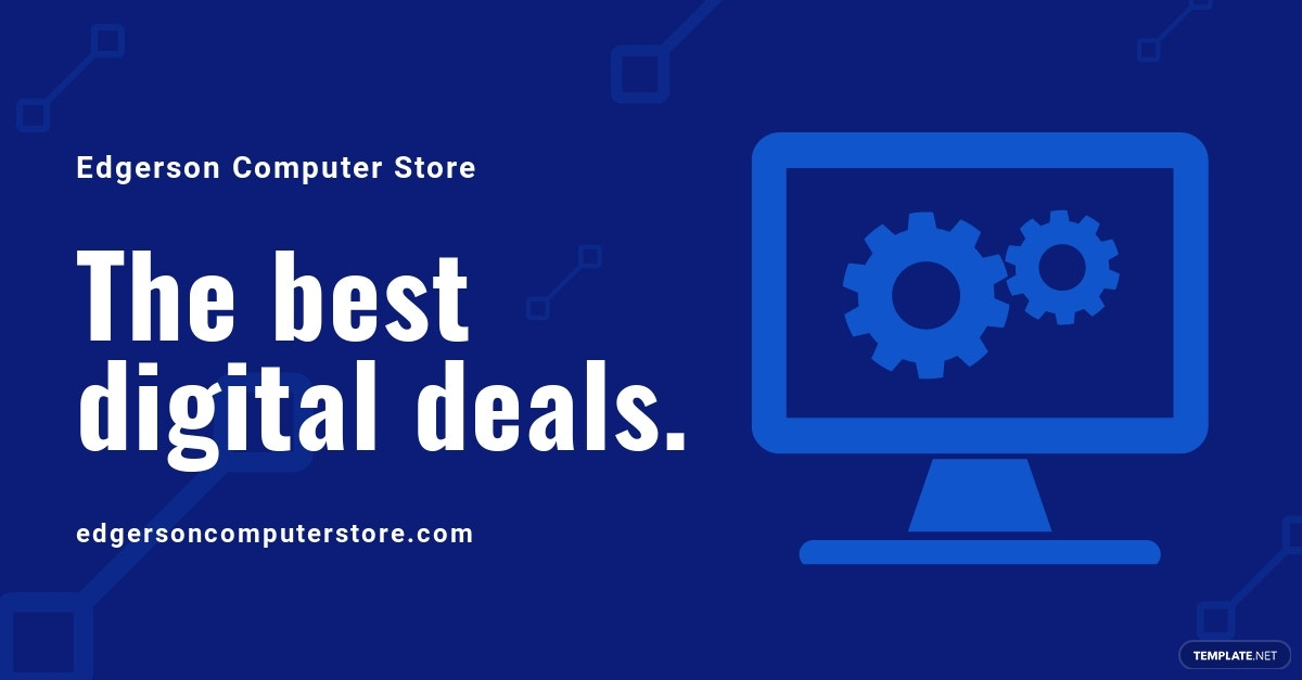 Computer Store Facebook Ad Template