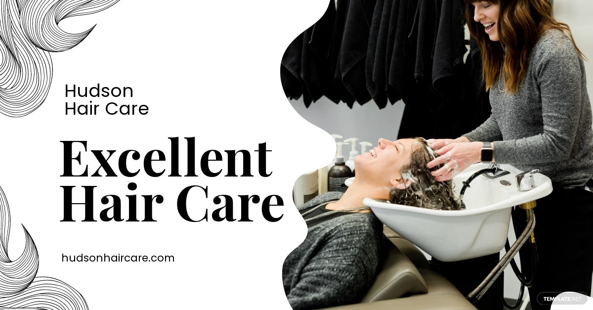 Hair Care Facebook Shop Ad Template