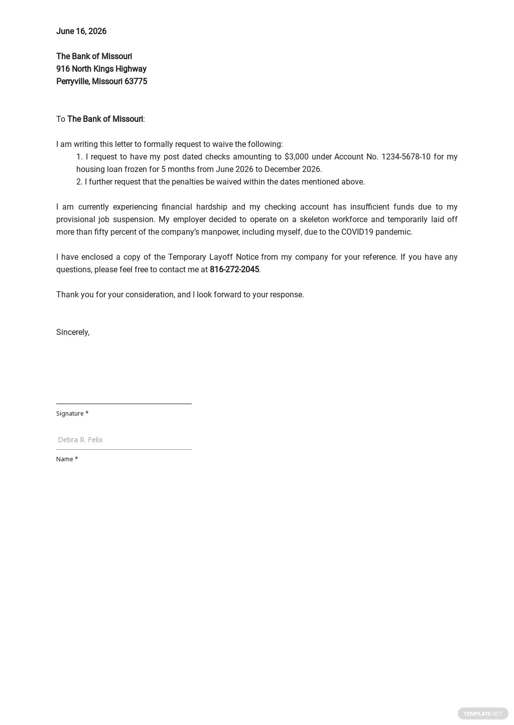 Waiver Of Payment Letter Template.jpe