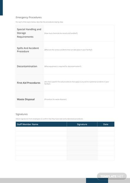 Free Laboratory Standard Operating Procedure Template 1