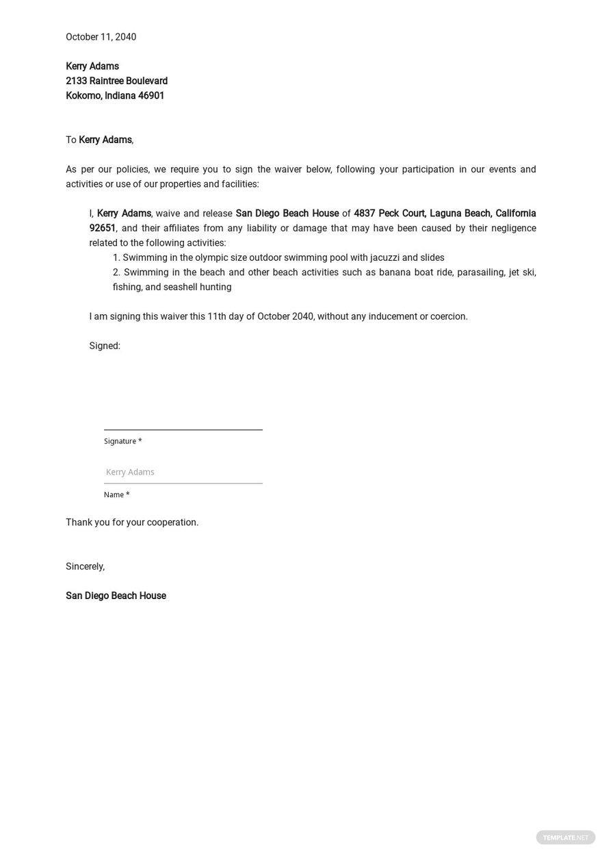 Rental Waiver Letter Template.jpe
