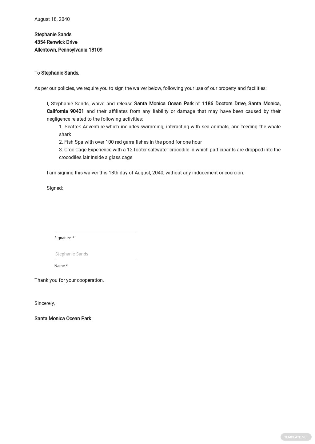 Property Waiver Letter Template.jpe