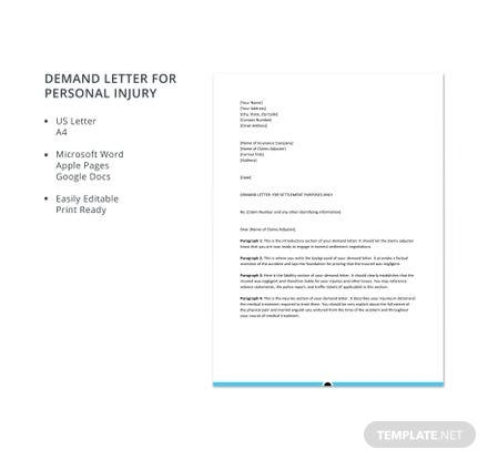 personal injury demand letter demand letter for personal injury template 700 23939