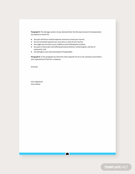 Demand Letter Templates - 11+ Free Word, PDF, Google Docs ... |Personal Injury Demand Letter Form