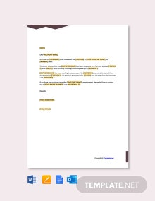 Free Employment Confirmation Letter