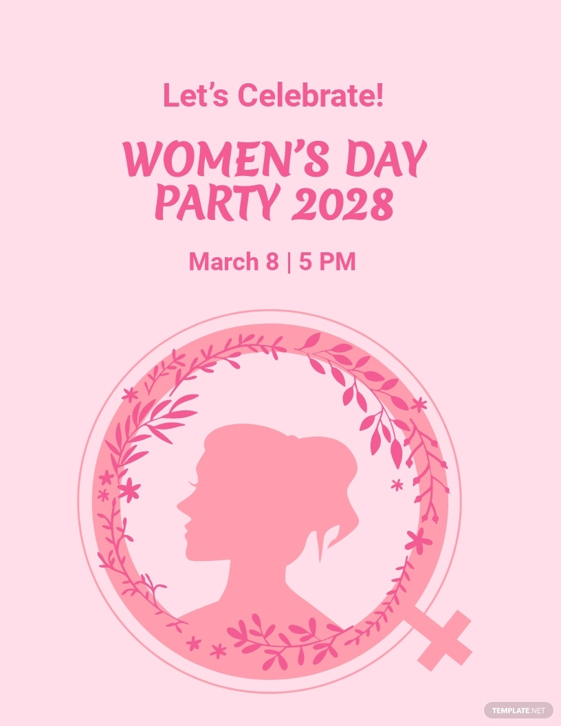 Women's Day Celebration Flyer Template.jpe