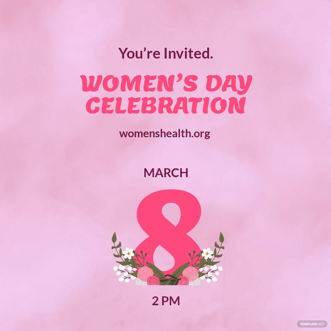 Women's Day Event Instagram Post Template