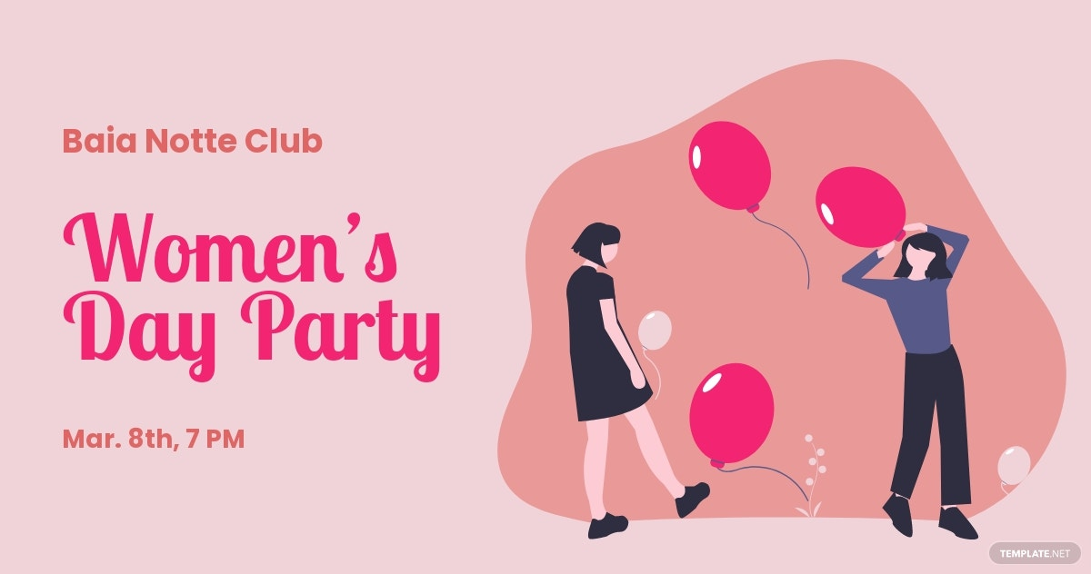 Women's Day Party Facebook Post Template