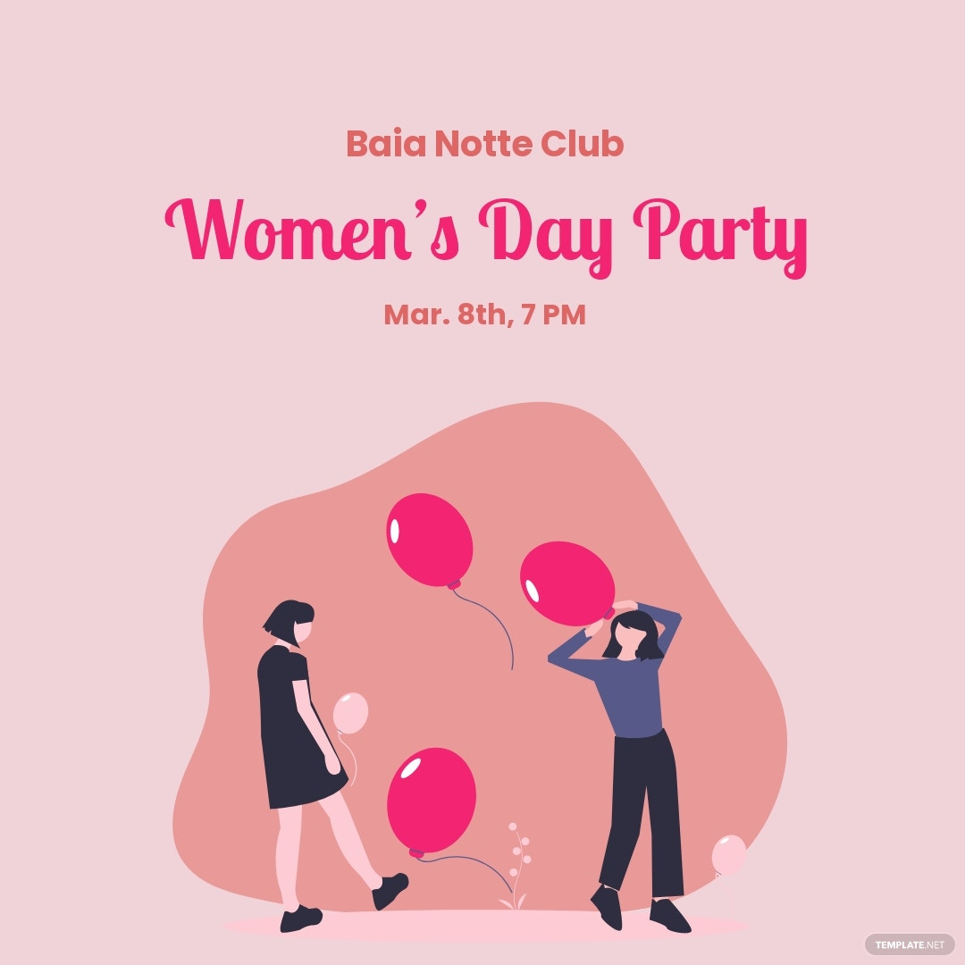 Women's Day Party Instagram Post Template