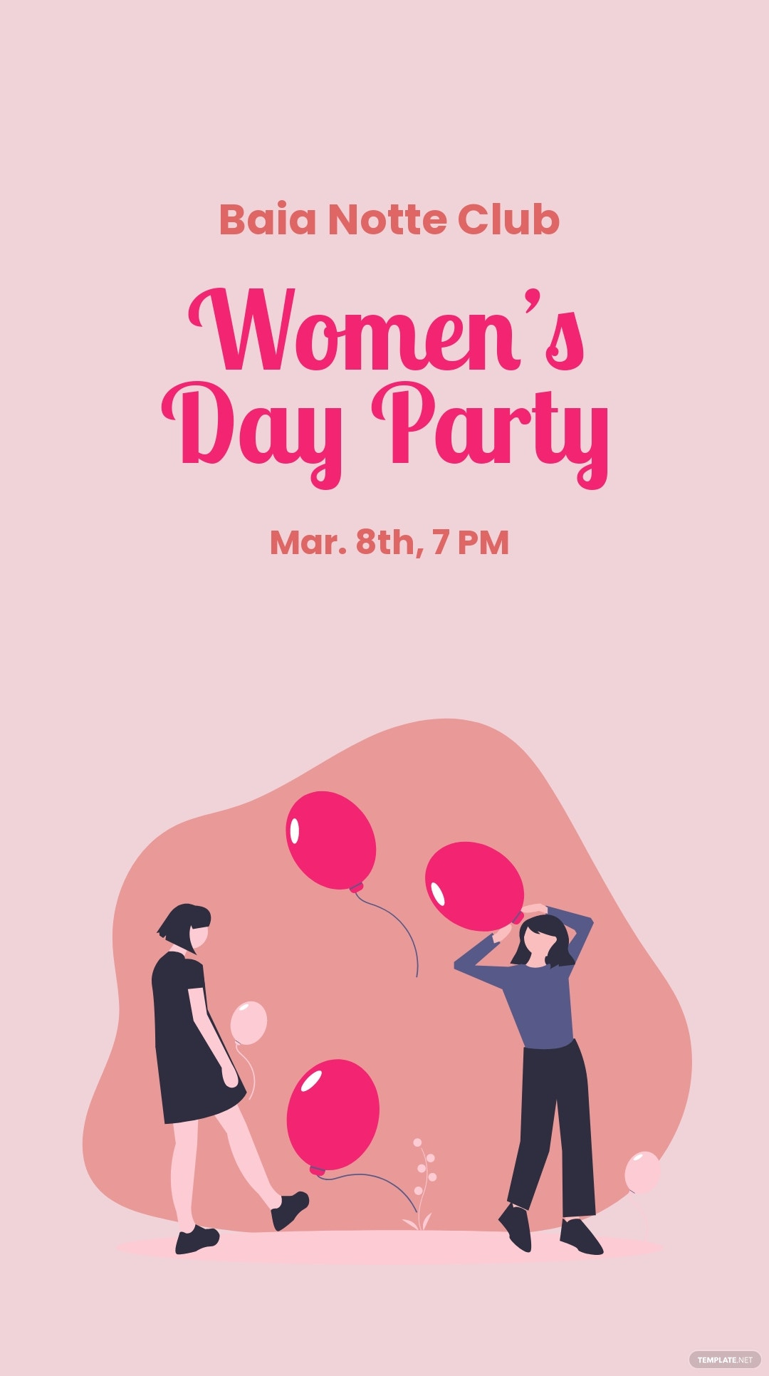 Women's Day Party Whatsapp Post Template