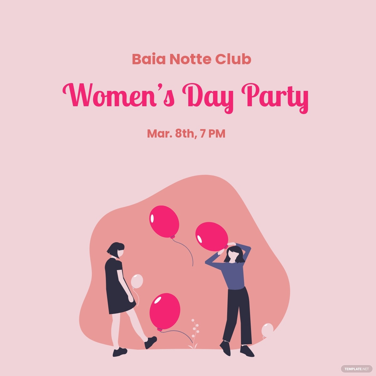 Women's Day Party Linkedin Post Template