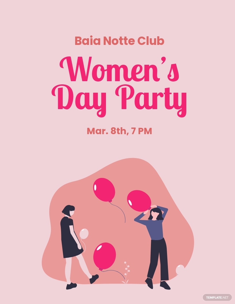 Women's Day Party Flyer Template.jpe