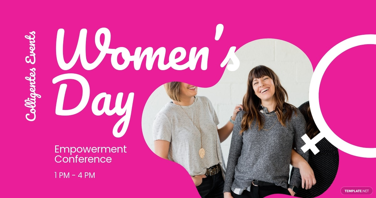 Women's Day Conference Facebook Post Template