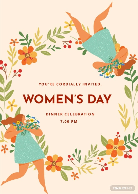 Womens Day Invitation Card Template