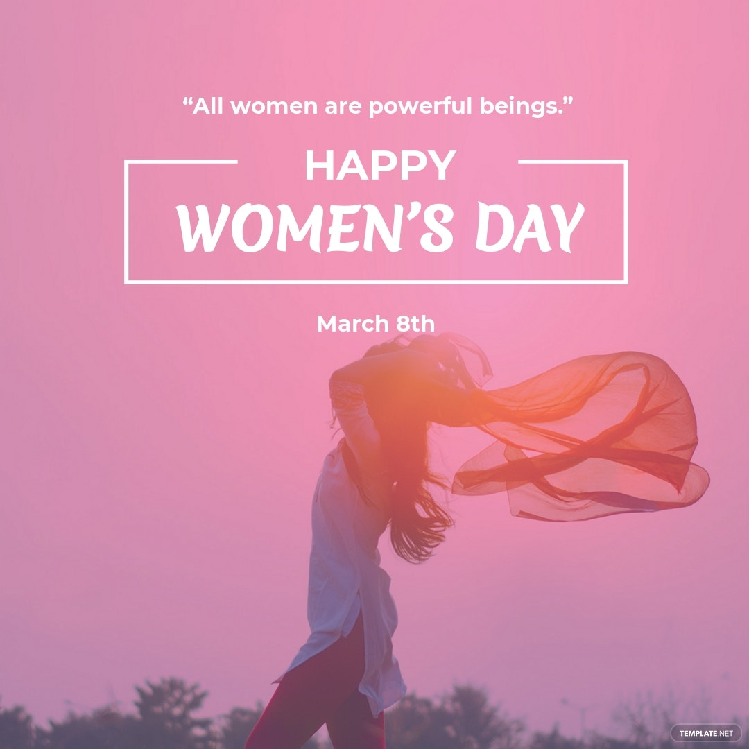Women's Day Quote Instagram Post Template