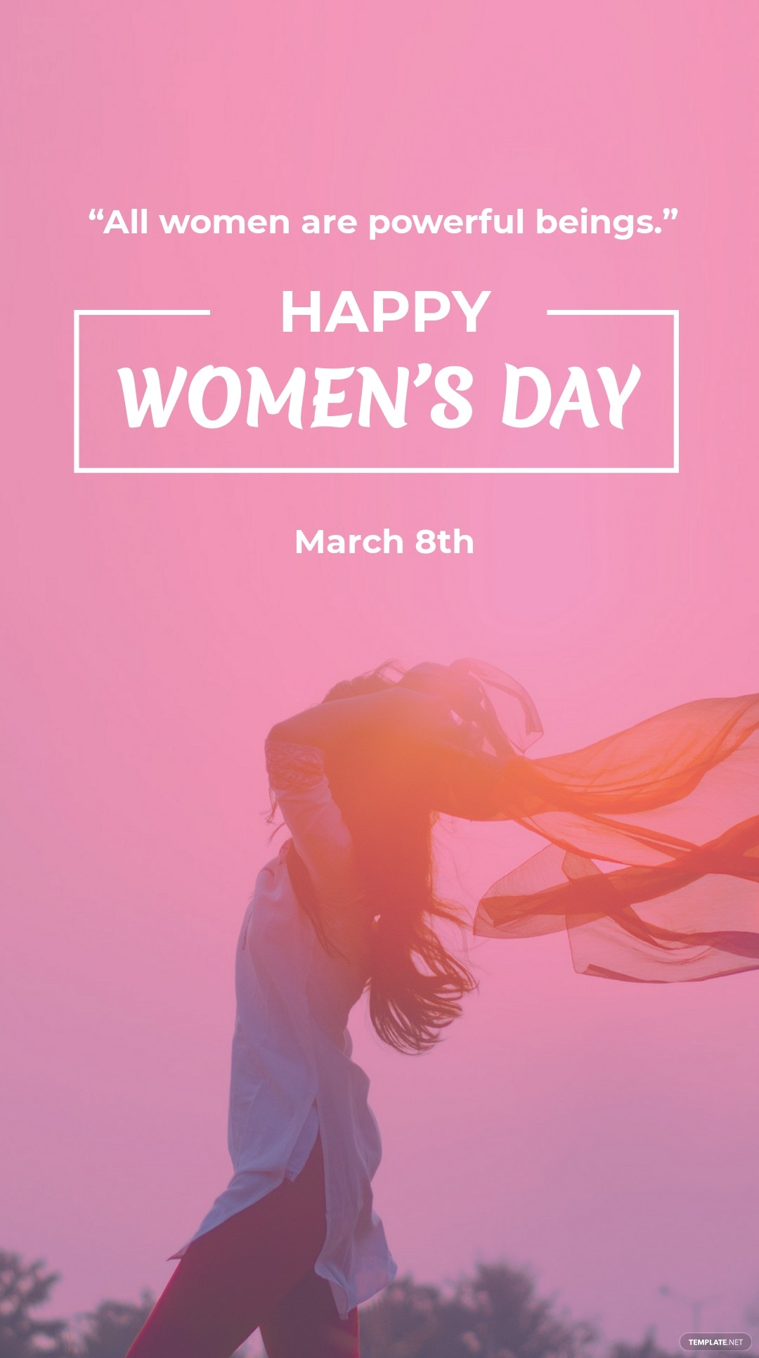 Women's Day Quote Whatsapp Post Template