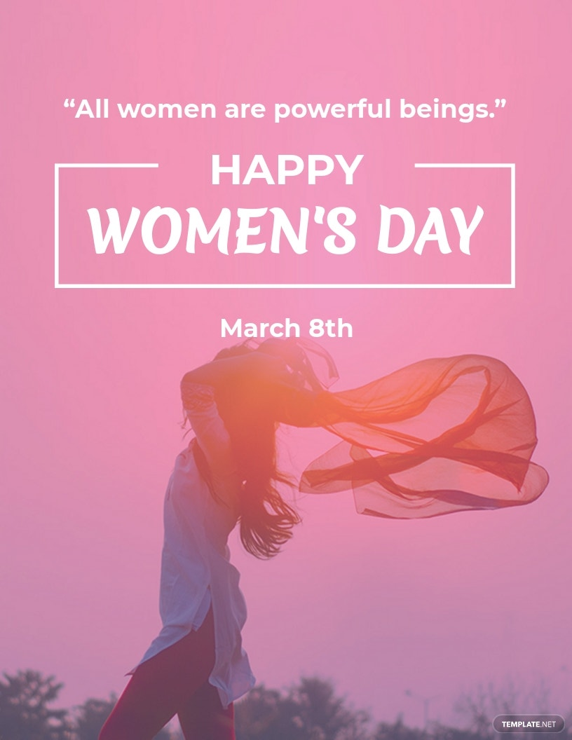 Womens Day Quote flyer template.jpe