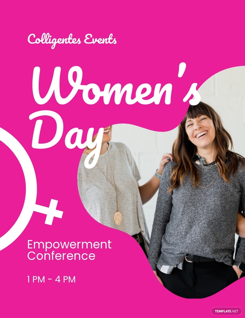 Women's Day Conference Flyer Template