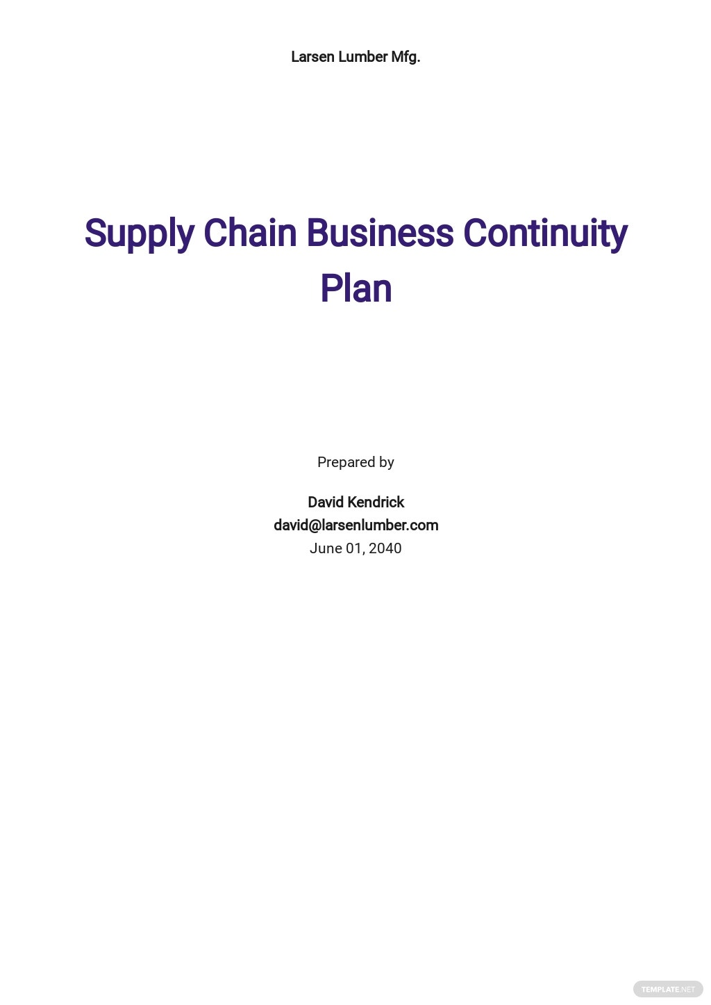 Supply Chain Business Continuity Plan Template.jpe