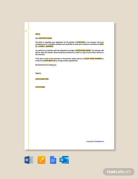 Free HR Invitation Letter Format