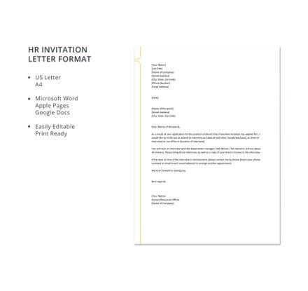 hr invitation letter format template download 700 letters in word pages google docs. Black Bedroom Furniture Sets. Home Design Ideas