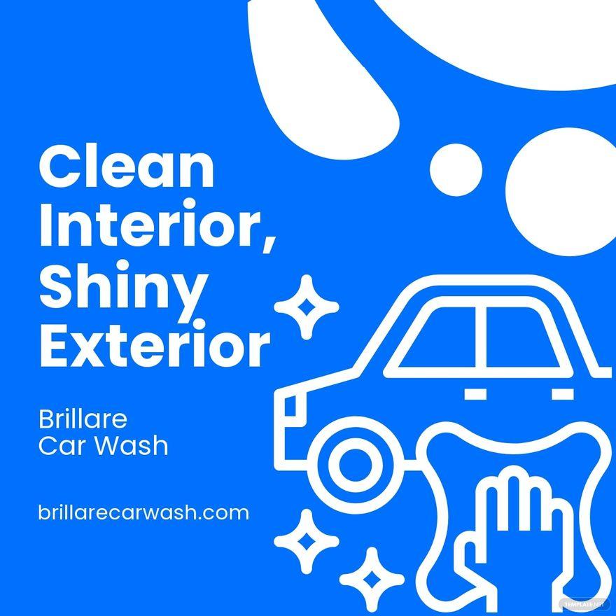 Car Wash Advertisement Linkedin Post Template.jpe