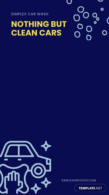 Simple Car Wash Snapchat Geofilter Template