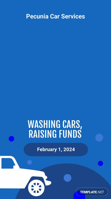 Car Wash Fundraiser Snapchat Geofilter Template