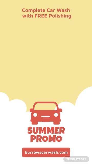 Car Wash Promotion Snapchat Geofilter Template