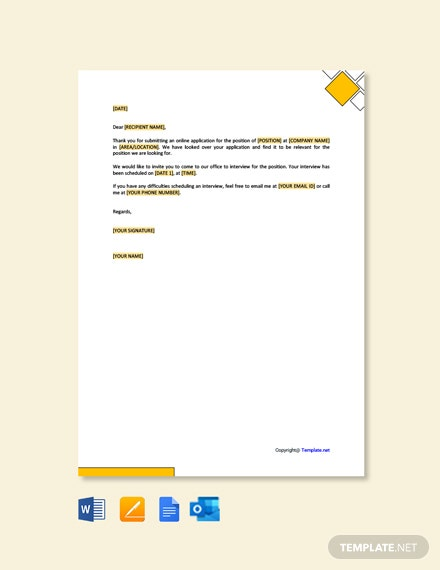 Free Job Interview Invitation Letter