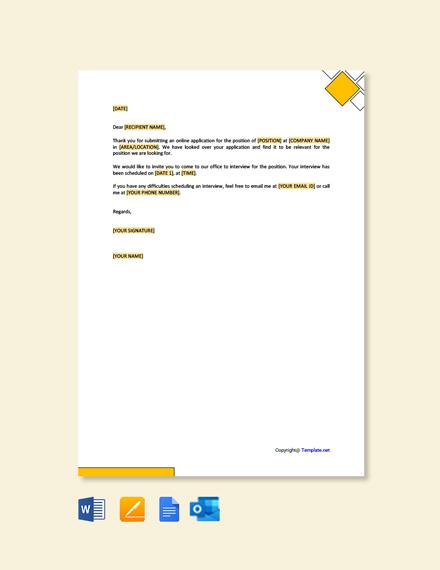 Free Job Interview Invitation Letter