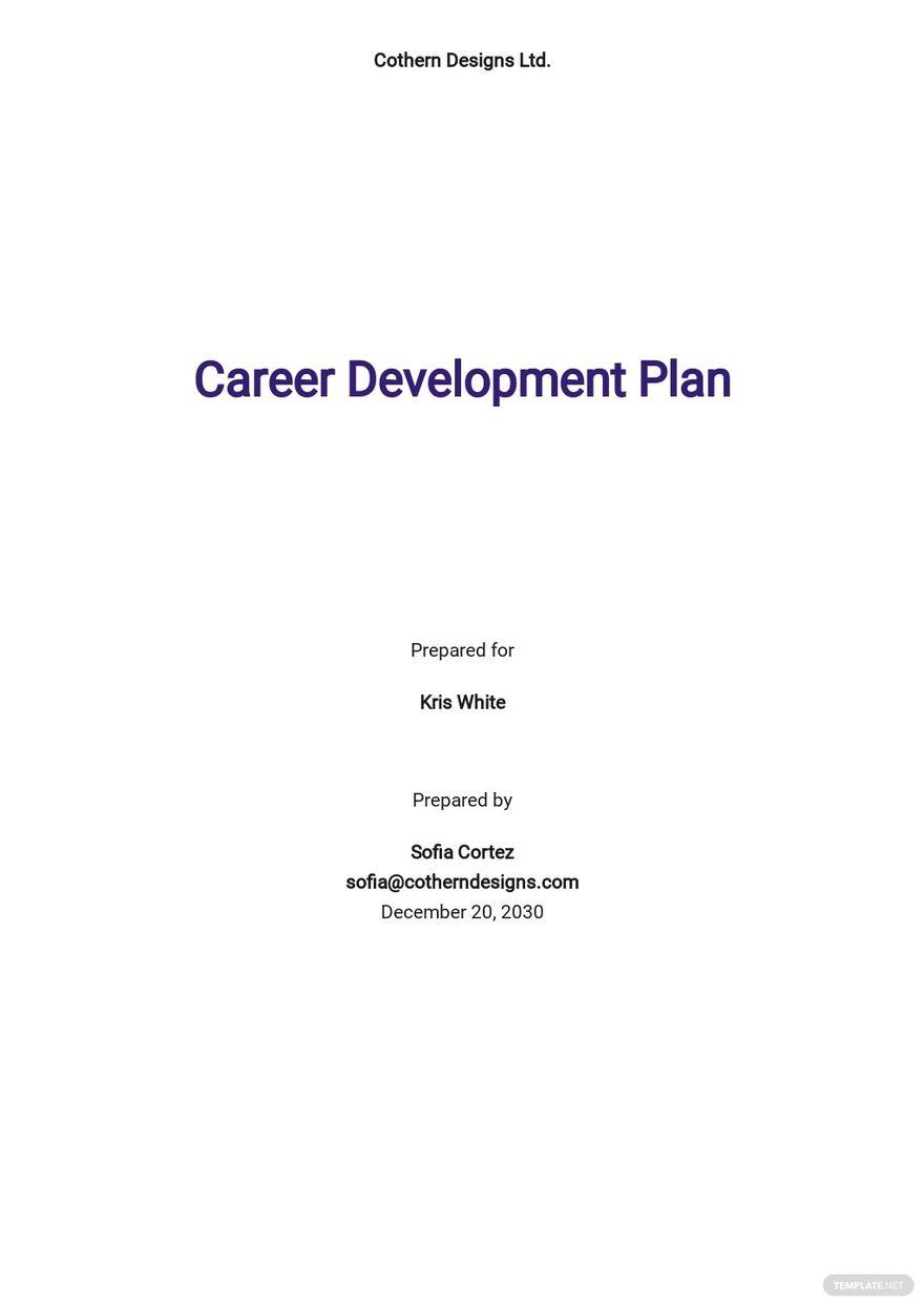Sample Career Development Plan Template.jpe