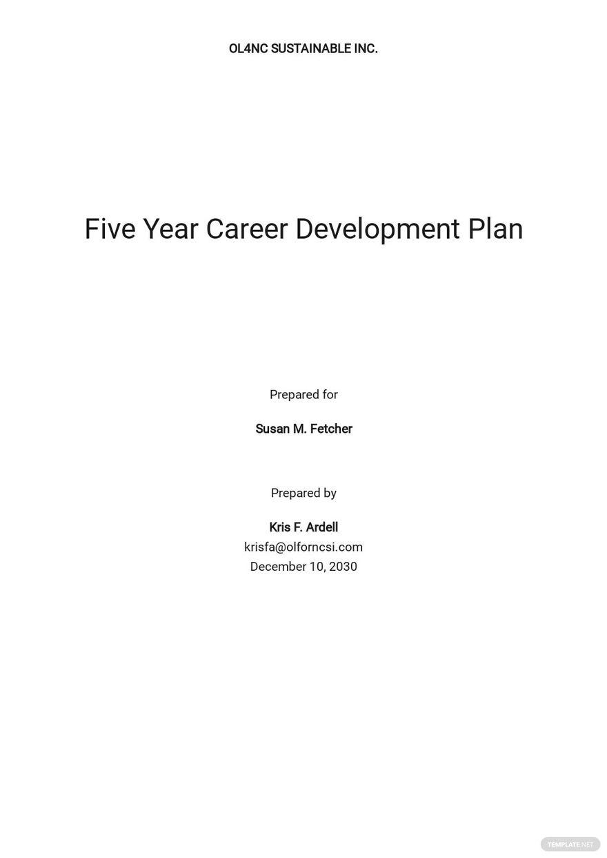 Five Year Career Development Plan Template.jpe