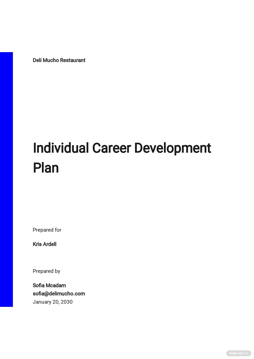 Individual Career Development Plan Template.jpe