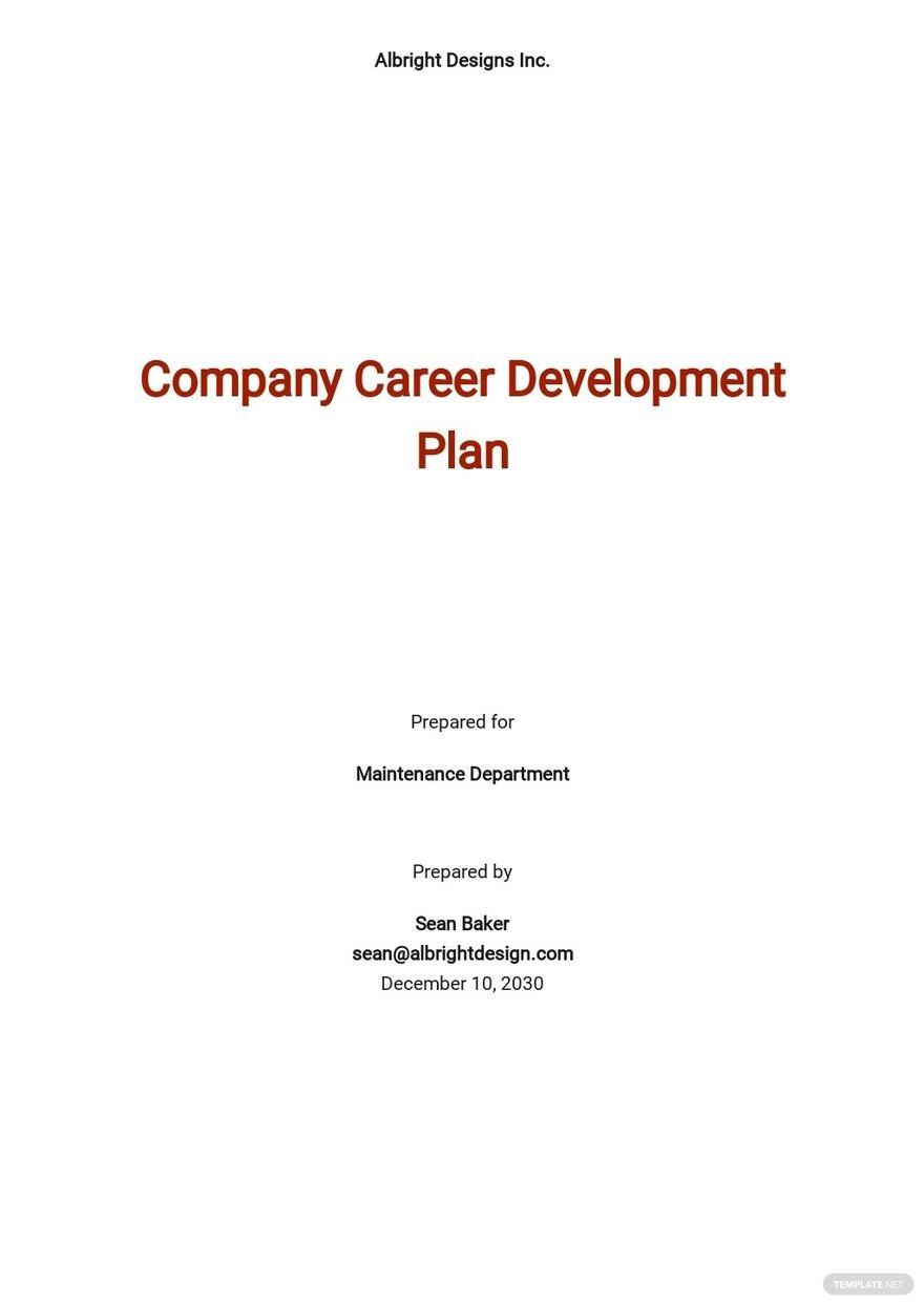 Company Career Development Plan Template.jpe