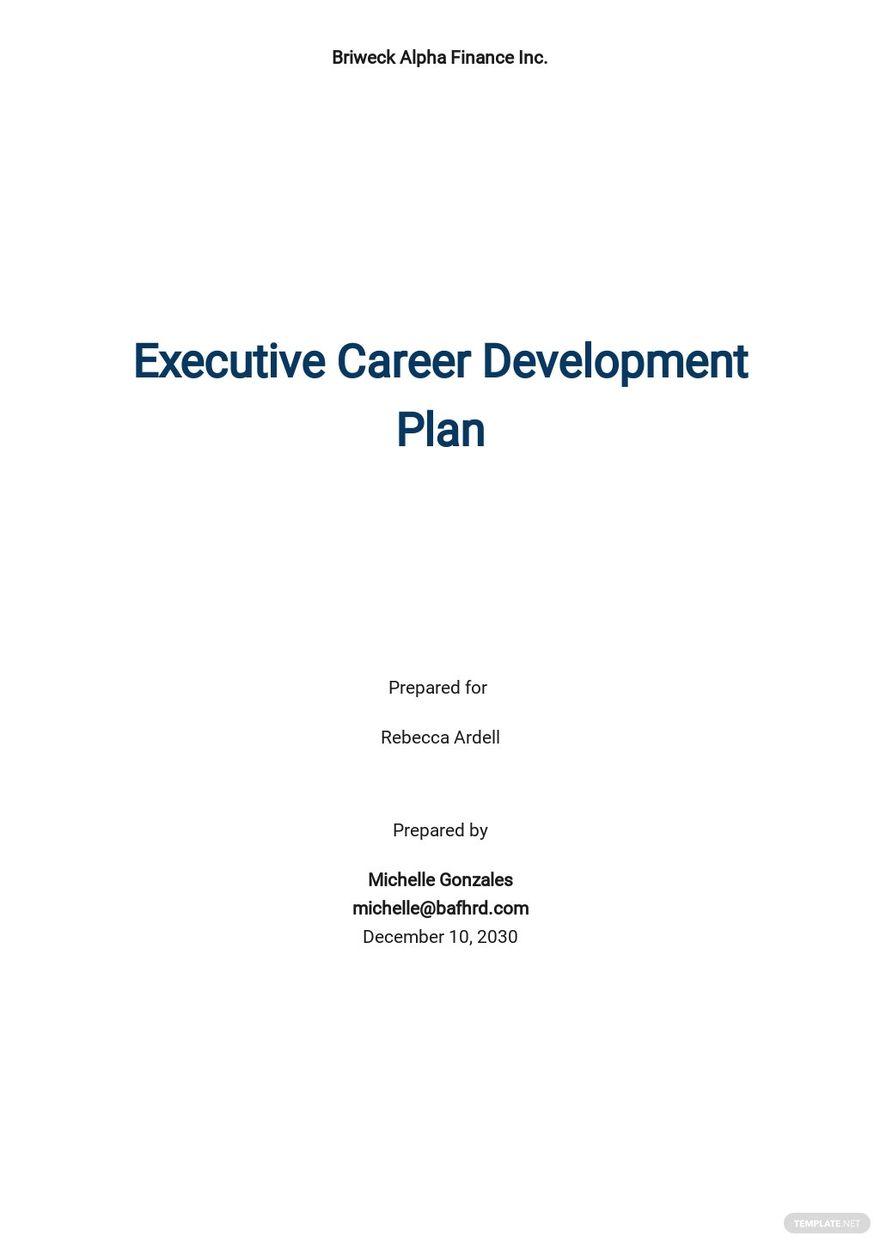 Executive Career Development Plan Template.jpe