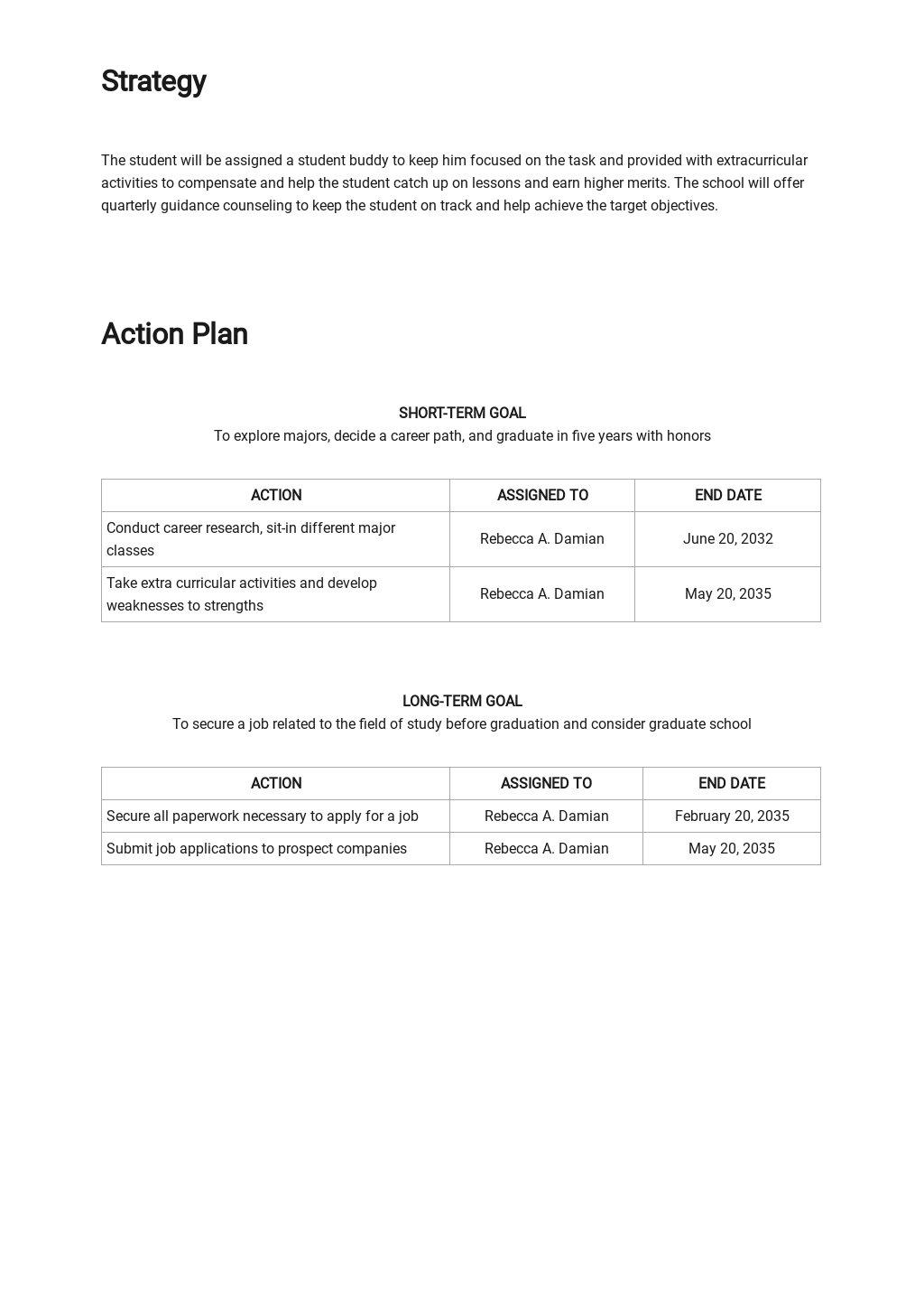Student Career Development Plan Template 2.jpe