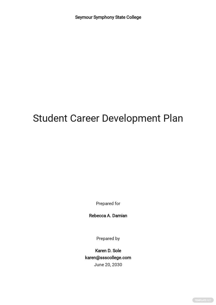 Student Career Development Plan Template.jpe