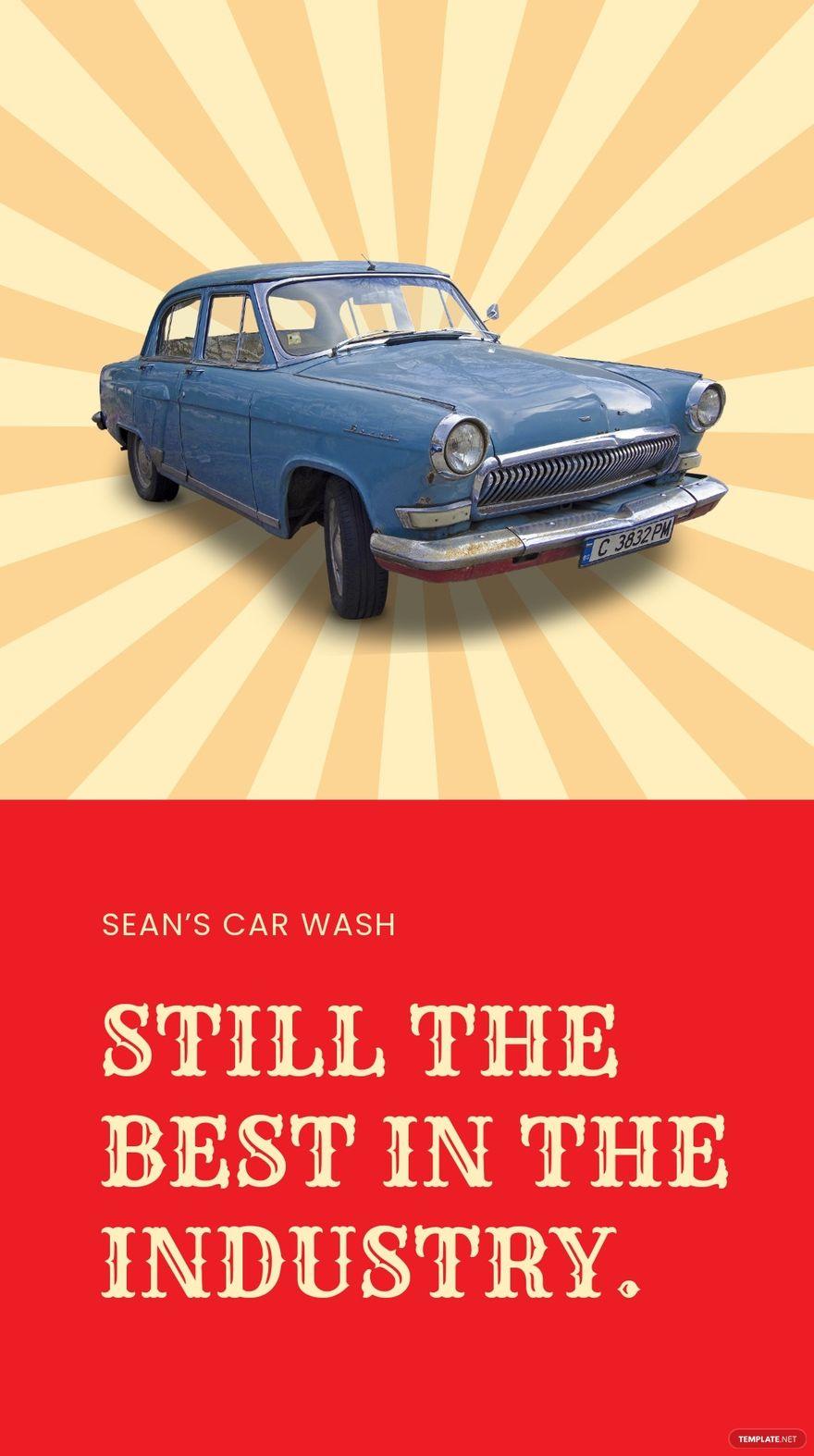 Vintage Car Wash Instagram Story Template.jpe