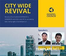 Free City Revival Flyer Template