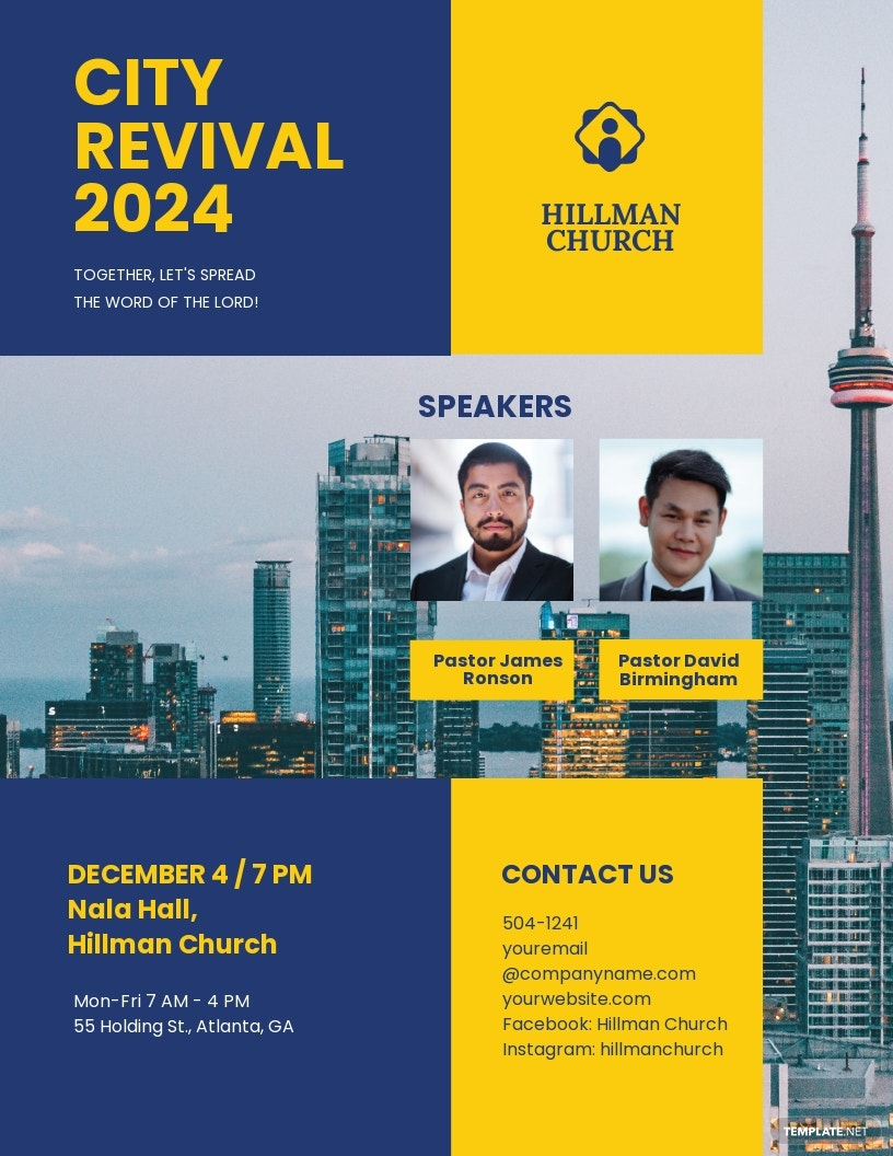 City Revival Flyer Template
