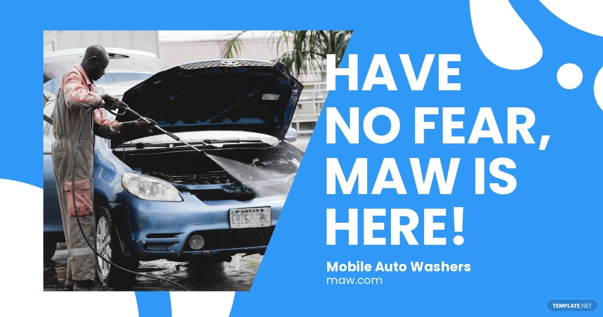 Mobile Car Wash Facebook Post Template.jpe