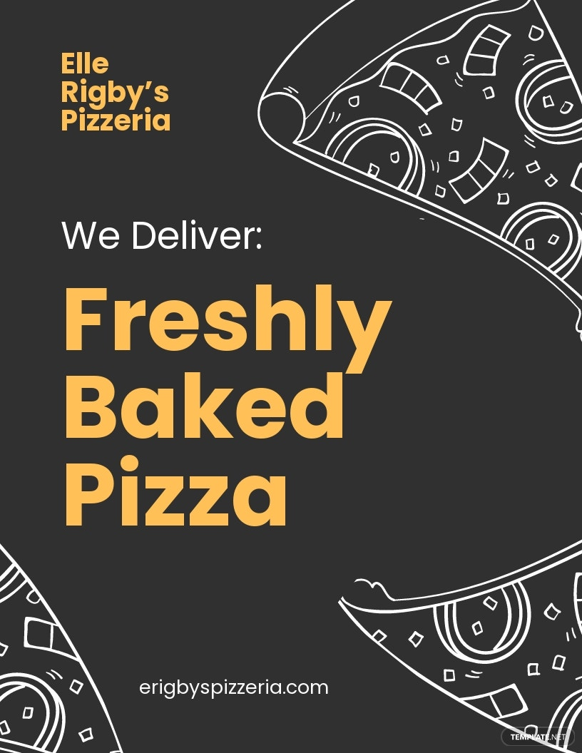 Pizza Delivery Flyer Template