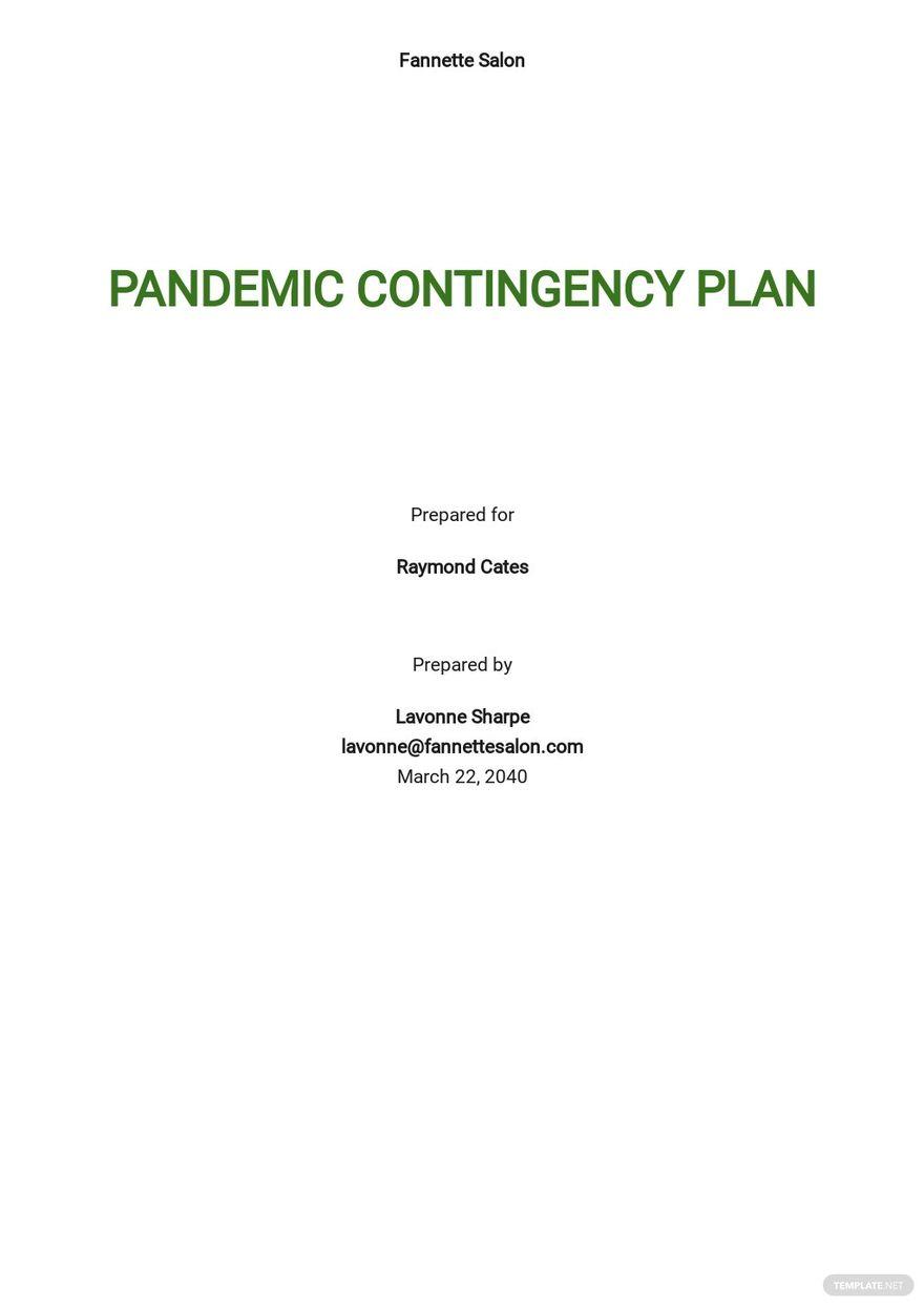 Pandemic Contingency Plan Template.jpe