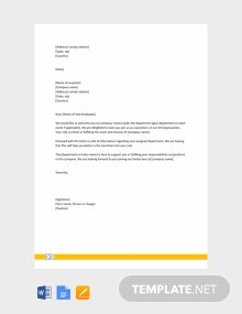 Free Welcome Letter to New Employee Template