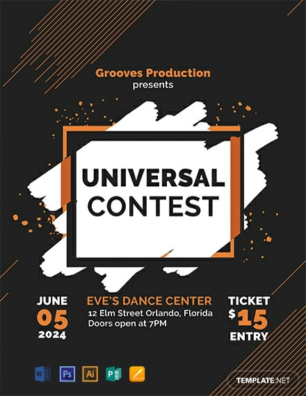 free contest flyer template
