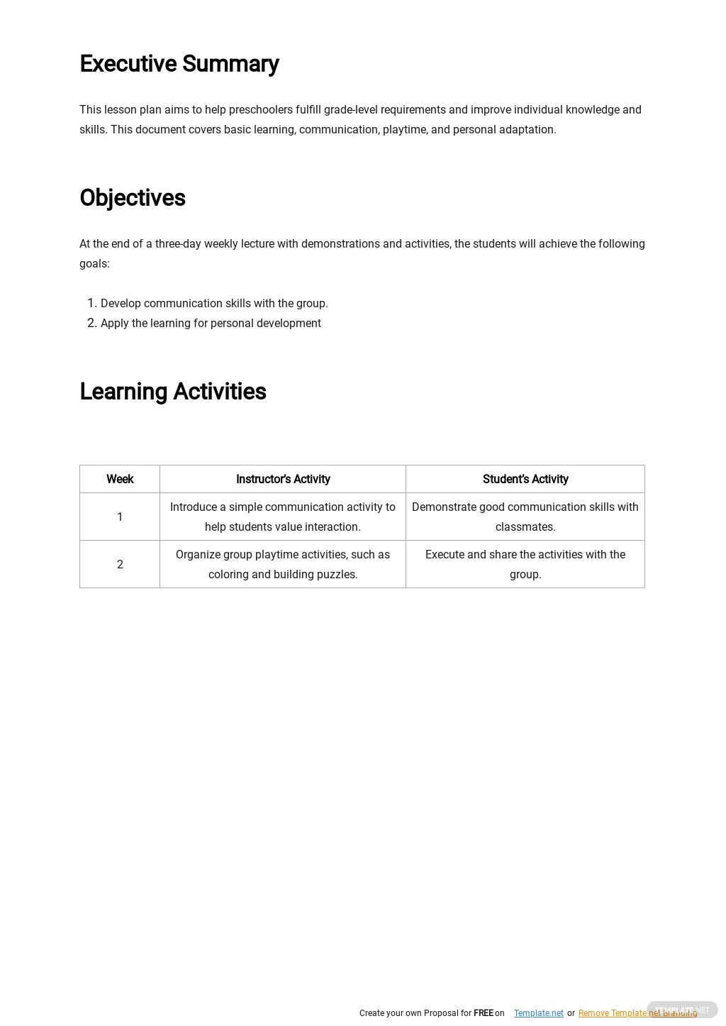 Sample Preschool Lesson Plan Template 1.jpe